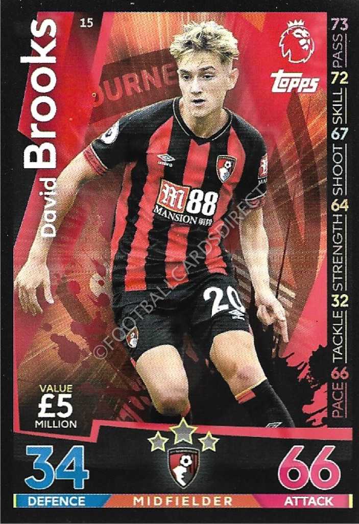 AFC Bournemouth Fútbol Squad Trading Cards 2018-19