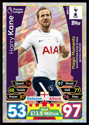 Match Attax EXTRA 2017//18 17//18 Man of the match Magic Moments Record Breakers