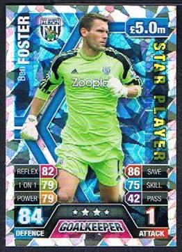 Match Attax 2013//2014 Ben Foster West Brom Star Player 13//14
