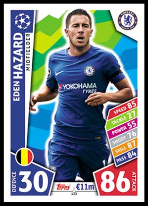 premier Elite Eden Hazard 2017//18 Topps Premier League oro soccer