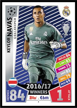new concept 38948 31379 2 Keylor Navas Match Attax Champions League 17/18 - Football ...