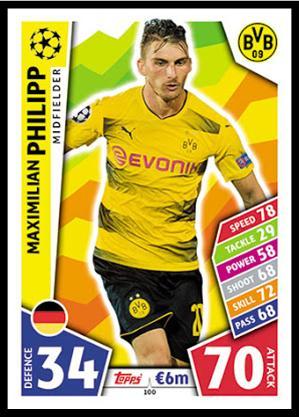Borussia Dortmund Champions League 17//18 Sticker 101 Roman Bürki