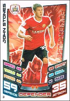 John Stones Rookie Card Barnsley Manchester City Championship Match Attax 12//13