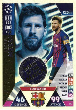 Karte 404 Mario Götze Man of the Match Champions League 18//19
