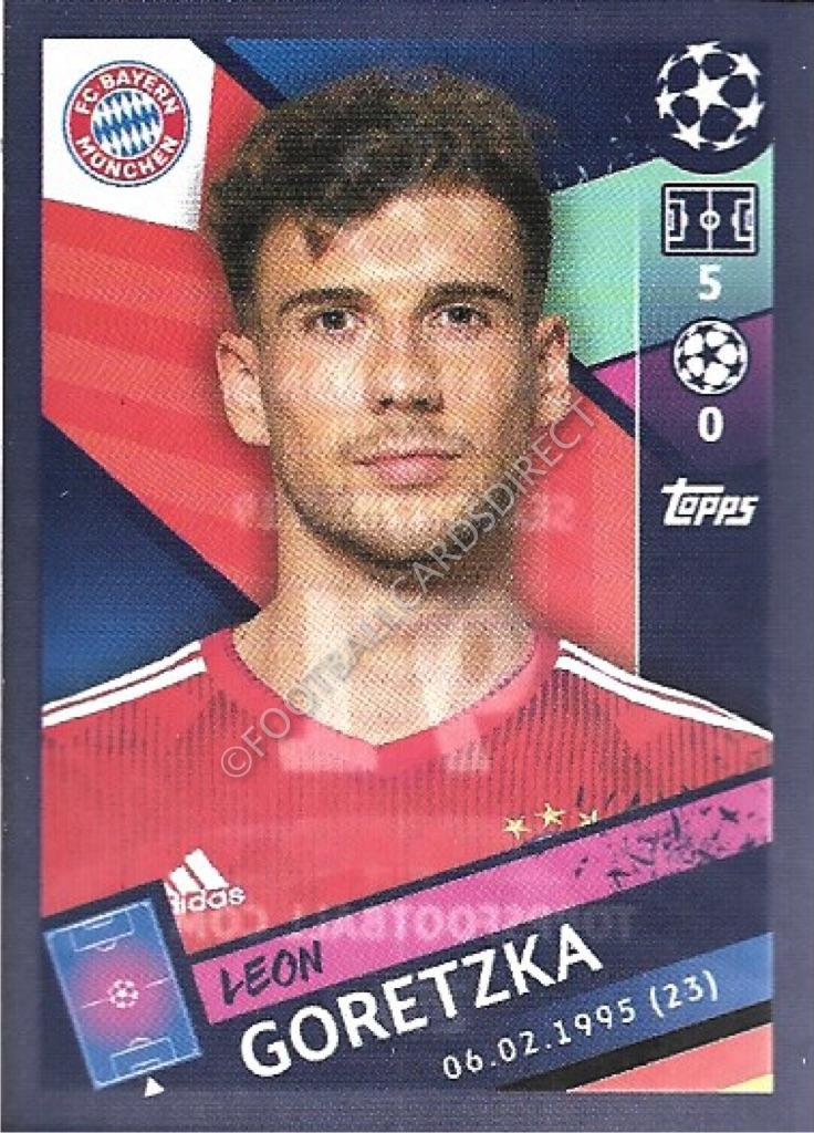 Sticker 91 Topps Champions League 18//19 Leon Goretzka