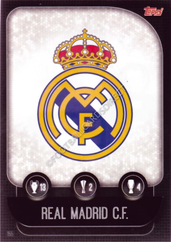 Match Attax 2020//21 Real Madrid badge logo Carte