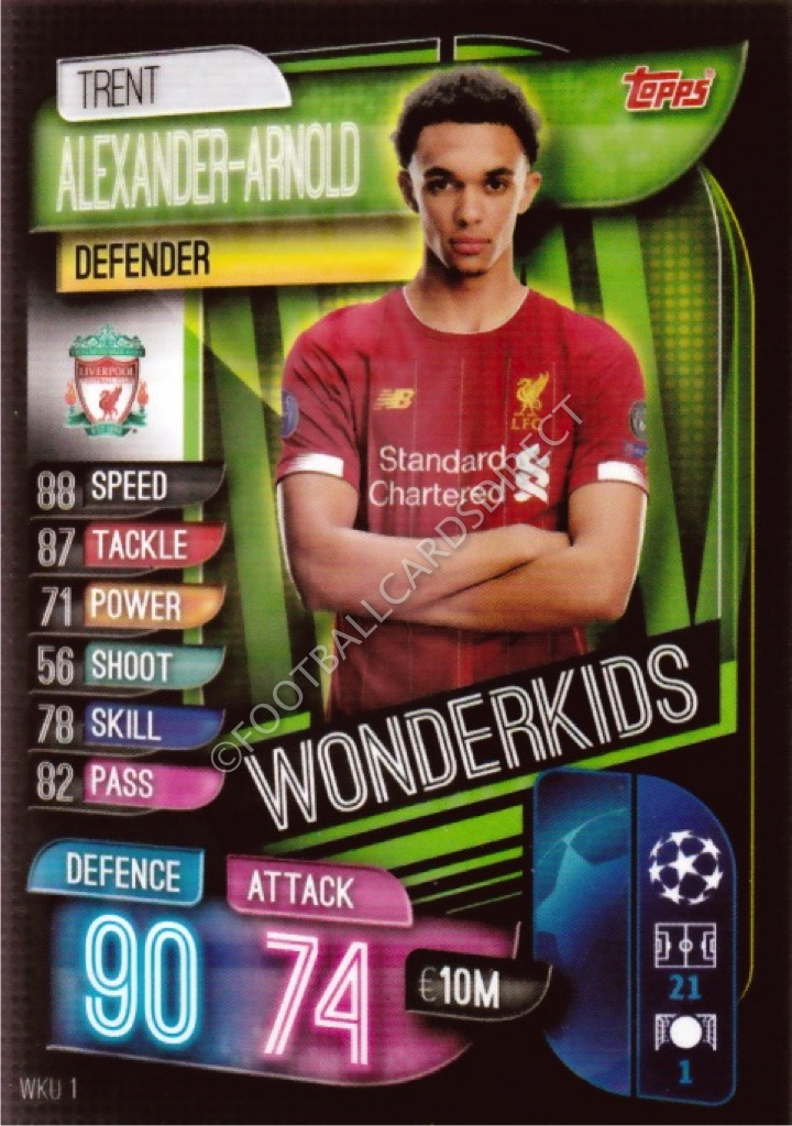 NM Near Mint or Better Condition 2020-21 Topps Match Attax UEFA Champions League UCL CCG #LIV6 Trent Alexander-Arnold Liverpool Official Collectible Card Game in Raw