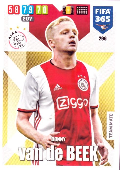 296 Donny Van De Beek Afc Ajax Base Card Fifa 2020 Football Cards Direct
