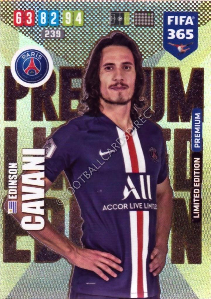 Edinson Cavani Psg Premium Limited Edition Fifa 365 2020 Football Cards Direct