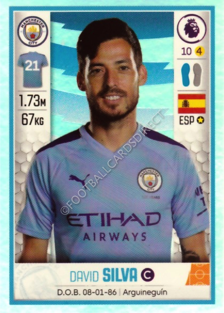 Manchester City PANINI FOOTBALL 2020 Premier League stickers